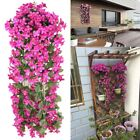 Artificial Fake Flowers Ivy Vine Hanging Garland Plant Wedding Home Decoration