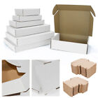 WHITE SHIPPING CARDBOARD BOXES POSTAL MAILING GIFT PACKET SMALL PARCEL
