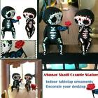 Crafts Resin Sugar Skull Couple Statue Decoration Home Resin Ornaments