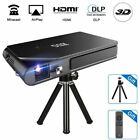 Travel Size DLP 3D Projector Wireless Synchronize Screen for Phone iPad 7000:1