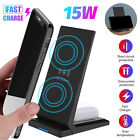 15W Qi Wireless Fast Charger Dock Pad Charging Stand Station for Samsung iPhone
