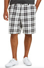 NWT Amazon Essentials Men's Gray White Plaid Cotton Twill Shorts BIG SIZES 42-60