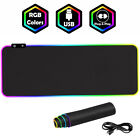LED Large Gaming Mouse Pad RGB Oversized Glowing 7 Color 31X12'' Waterproof Y1D5