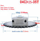 "For #25 Chain Drive Sprocket Wheel 04C 35T Bore 6-20mm Keyway Pitch 1/4"" 6.35mm"