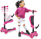 3 Wheeled Scooter for Kids - Stand & Cruise Child/Toddlers Toy Folding Kick Scoo
