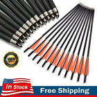 12pcs 20 Inch Archery Crossbow Carbon Arrows Bolts Target Tips Hunting Shooting