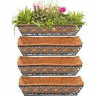 """24"""" Window Boxes Horse Trough 4PCS 24 inch Window Deck Including Coco Liner"""