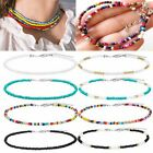 Boho Colorful Seed Beads String Beaded Choker Clavicle Chain Necklace Women Gift