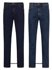 Mens Wrangler Iconic Straight Leg Denim Stretch Jeans Button Fly FACTORY SECONDS