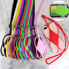 US Stock Silicone Lanyard Case Cover Holder Sling Neck Strap For Cell Phone