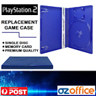 Ps2 Replacement Game Case - Playstation 2 Game Blue Case Disc + Memory Card Case