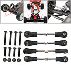 4pcs Adjustable Metal Rc Car Steering Rod Vehicles 1:10 Scale Rc Truck Parts