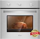 Empava 24 In. 2.3 Cu. Ft. Single Gas Wall Oven Bake Broil Rotisserie Functions w