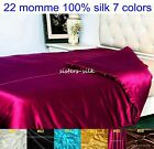 1 Pc 22mm 100% Pure Silk Satin Duvet Quilt Doona Cover All Size 7 Colours