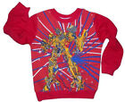 TRANSFORMERS JUMPER DISNEY BOYS GIRLS - Sz 2 & 4 - Red