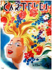 "373.Interior Design fashion poster""Girl with colorful FLOWER Hair""Home interior"