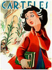 "436.Quality Interior Design poster""Beautiful girl crying over Xmas Trees""retro"