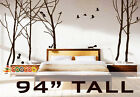 """Wall Decor Decal Sticker vinyl large tree forest birds 94""""H"""