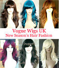 Lady Long Blonde Black Brown Fashion Wig Tappered Style Premium Quality Wig