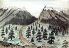 3904.Cherokee Pass Camp drawing POSTER. Landscape Art Decorative.Decoration