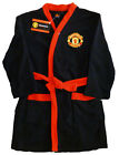 BOYS DRESSING GOWN/BATH ROBE MANCHESTER UNITED  5-12 YEARS OLD BNWT BLACK/RED