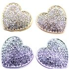 lovely heart earrings with pearl and crystal  5 colours to choose