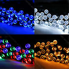 100 LED Blue/White/Multi-color Solar Fairy Lights Christmas Garden Outdoor Party