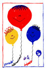 2262.Children's Day quality POSTER.Baby balloons Room Home Interior art