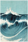3056.Asian woodblock marine POSTER.Seascape Waves.Ocean view.Home bedroom decor.