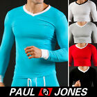NEW SEXY Mens Tight Smooth Thermal Underwear T-shirt Top 5Color Size S M L,Comfy