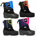 CHILDRENS KIDS BOYS GIRLS UNISEX BLACK SNOW MOON SKI WINTER BOOTS SIZES UK6-UK2