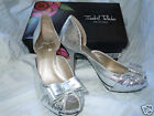 ISABEL TOLEDO for Payless Silver Bow Dress Shoe Pump US 7 BNIB
