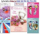 15th 16th 17th 18th Birthday Card Buyer Pick Design Free P&P Within UK Mainland