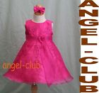 NEW INFANT HOT PINK/ FUCHSIA PAGEANT GIRL DRESS Sz S-XL
