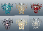 Crystal Droplet Ceiling Light Shade Pendant Red Blue Cream Clear Green & others