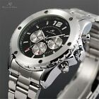 KS Automatic Mechanical 6 Hands Analog Date Stainless Steel Men Watch