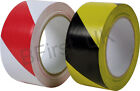 33 Metre Long Roll Hazard Warning Adhesive Tape safety Security Red and White