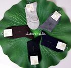 Men's Mulberry Silk Dress Ankel Socks One Size Fit Most Sisters-silk