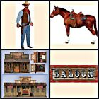 WESTERN SCENES SETTERS,COWBOY,HORSE,SALOON WILD WEST FANCY DRESS PARTY