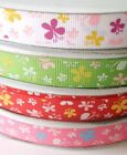 9mm 16mm Grosgrain Craft Printed Ribbons Butterfly Red Green White Pink 3m