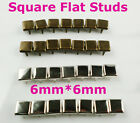 150PCS 6mm Punk Bronze/Silver Square Flat Studs Spots Great For Your Fashion DIY