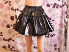 BLACK PVC SHORT GATHERED SKIRT,FETISH,MISTRESS,SISSY