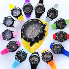 New Jelly Wrist Versicolor Rubber Silicone Unisex Quartz Watch With Calendar