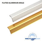 Weatherbar Fluted/Ribbed Aluminium Angle, 2438mm Long, Various Sizes & Finishes