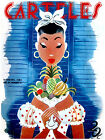 "162.Cuban fashion poster""Pretty Pinup w/tropical fruits..Decoration art dream"