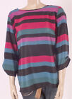 Special Offer M&Co BOLD STRIPE 3/4 SLEEVE TUNIC TOP in SIZE UK 20 NEW