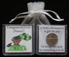 PERSONALISED GRADUATION GIFT LUCKY SIXPENCE GOOD LUCK BEAR UNIQUE