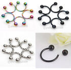 60x Bulk Stainless Steel Eyebrow piercing Nail Stud Bar Barbell Body Jewelry