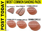 Sanding Pad Sheets Triangle Circle 90mm 140mm 115mm 125mm 150mm 180mm  All Grit