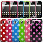 NEW POLKA DOT DOTS GEL CLIP ON CASE COVER SKIN FOR DIFFERENT MOBILE PHONES